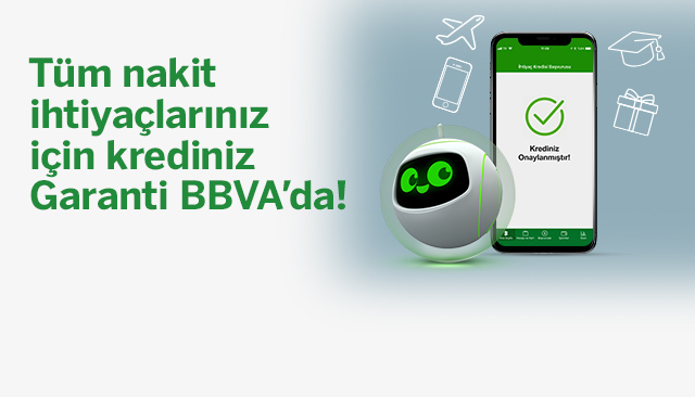 Garanti BBVA'dan Anında Onaylı Kredi